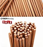 Chinese Natural Bamboo Chopsticks, 9.4'/ 24cm Long Lightweight Reusable Wood Chopstick Set For Eating Cooking -10 Pairs gift Sets Dishwasher Safe Color1(Upgraded Version)