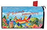 Briarwood Lane 5 O'clock Parrot Summer Large Magnetic Mailbox Cover Tropical Beach Oversized