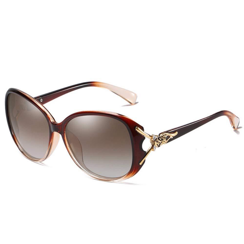 C NDFSEsunglasses Polarized Sunglasses Women's Polarized Sunglasses Large Frame Driving Glasses,B