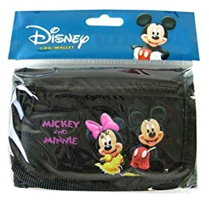 Character Kids Wallet- Mickey Wallet (Black) – Mickey Minnie Wallet