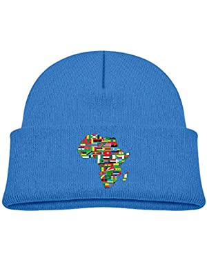 Funny Africa Flags Printed Infant Baby Winter Hat Beanie
