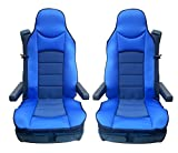 flexzon 2X Blue Comfort Padded Seat Cover Cushion For Cov...