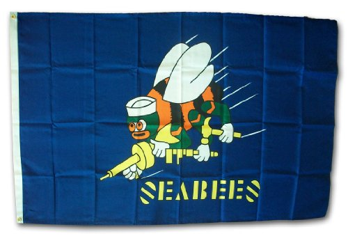 Seabees  - 3' x 5' Dura-Poly Polyester Military Flag by Flag