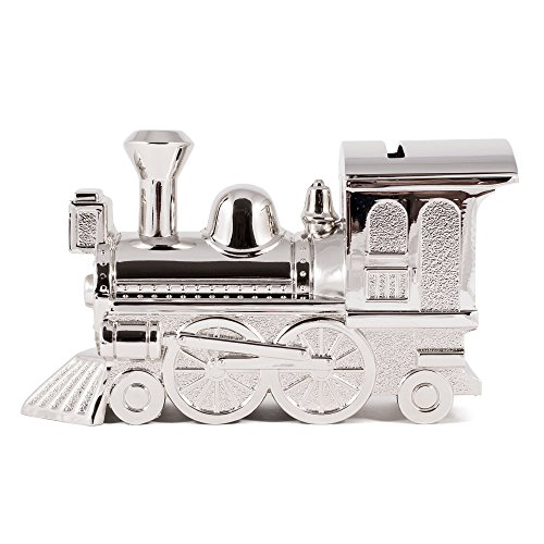 Sheridan Silver Plated (Non-Tarnish Nickel Plated Train Shaped Coin Savings Bank)