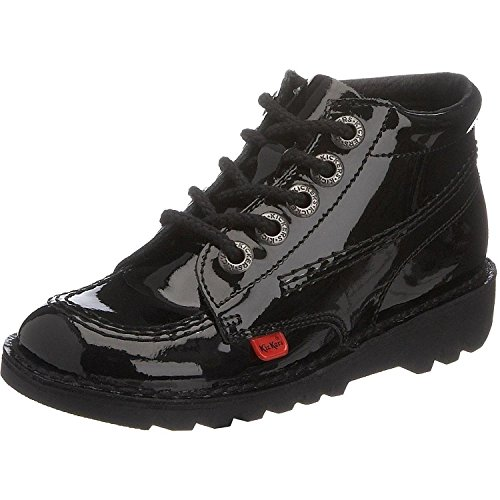 Junior Kickers Kick Hi Patent Black Leather Boots - 13 UK / 32 EU]()