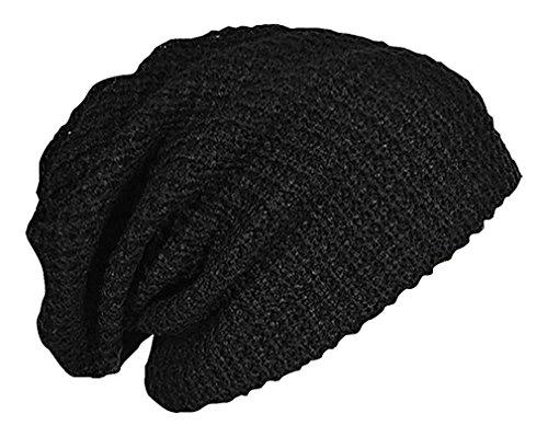 Celino Unisex Gray Black Burgundy Cotton Polyester Knitted Warm Slouchy Beanie, Black One Size (Burgundy Felt Bonnet)