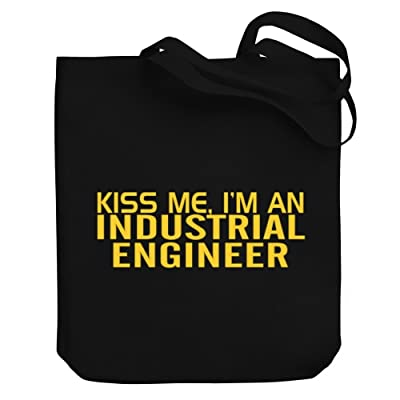hot sale Teeburon KISS ME, I AM a Industrial Engineer Canvas Tote Bag