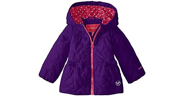 9db2fdeccc12 Amazon.com   London Fog Baby Girls Heart Quilted Poly Coat