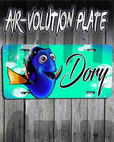 (Personalized Airbrush Dory Finding Nemo License Plate Tag)