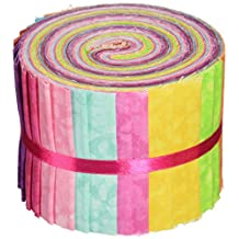 Fabric Palette 2-1/2-Inch by 42-Inch Cuts Jellies 100-Percent Cotton, 20-Pack, Textures