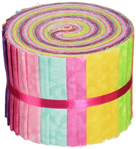 Fabric Editions, LLC MDG-JL-TEXTT Fabric Palette 2-1/2-Inch by 42-Inch Cuts Jellies 100-Percent Cotton, 20-Pack, Textures