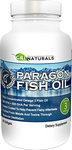 Paragon Fish Oil - Purest - Triple Strength - Omega 3 Fish Oil - Burpless - Highest - EPA + DHA by CRI Naturals