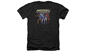 Masters Of The Universe Team Of Villains Mens Heather Shirt Black Xl