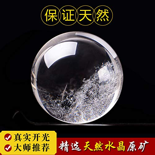 THEALEEWIN Home Decoration Natural White Crystal Ball Decoration Lucky Transfer Porch Desk, E Diameter 6Cm