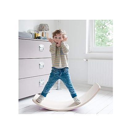 Amazon.com : DWDream Wooden Balance Board Wobbel Kids Curvy ...