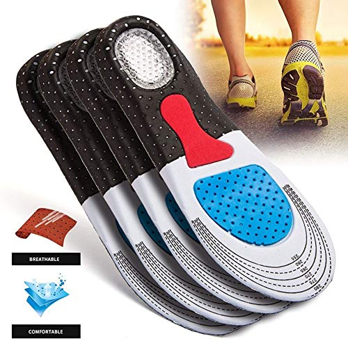 LtrottedJ Men and Women's Fashion Silica Gel Insoles Orthotic Sport Running Shoes Insoles (B) -