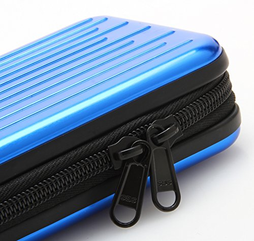 KAYOND Anti-shock Silver Aluminium Carry Travel Protective Storage Case Bag for 2.5'' Inch Portable External Hard Drive HDD USB 2.0/3.0 (blue) by KAYOND (Image #5)