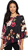 Karen Kane Women's Floral 3/4 Sleeve Top Print Medium