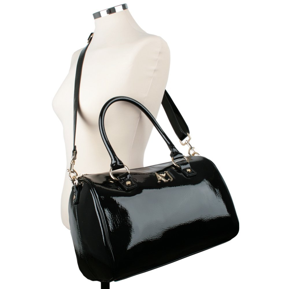 fa07c37a8a Armani Jeans Black Patent S5216A5112 Womens Shoulder Bag Black Patent   Amazon.co.uk  Shoes   Bags