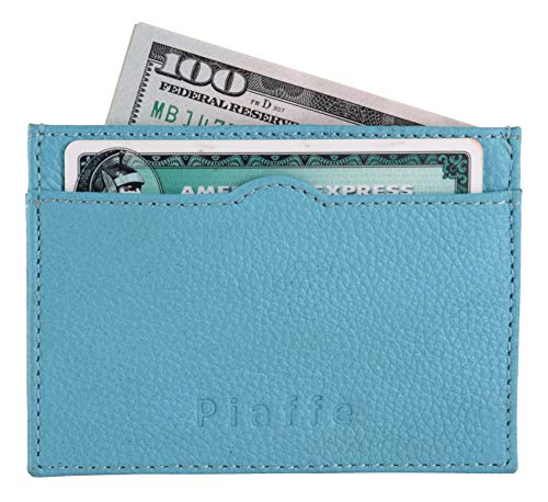 Slim RFID Blocking Cardholder with 3 card Slots - Aqua Blue