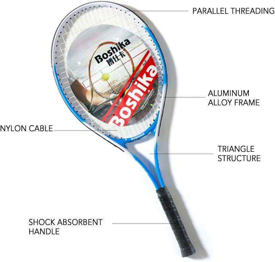 Lixada Raqueta de Tenis de Aleaci/ón de Aluminio Ligera a Prueba de Golpes con Bolsa de Transporte de Tenis de Entrenamiento y Agarre de Tenis