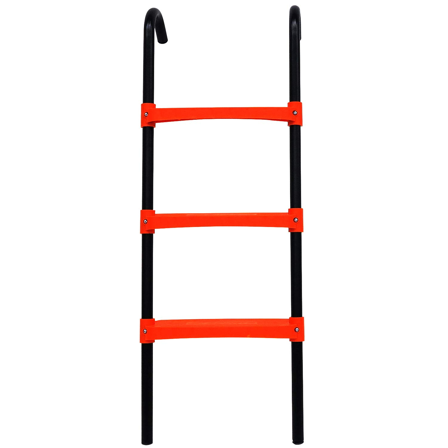 JUMP POWER Trampoline Ladder - 3 Step Wide Universal Trampoline Ladder for Kids - Trampoline Accessories - Powder Coated & UV Treated Trampoline Steps for All Weather Exposure - Sturdy & Safe Design