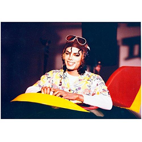 Michael Jackson 8 inch x 10 inch Photo Aviator Hat & Goggles Big Smile - Aviators Jackson Michael