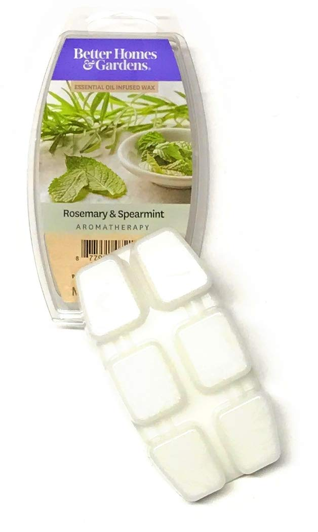 Better Homes & Gardens Rosemary & Spearmint Aromatherapy Essential Oil Infused Wax Melts, 2.5 OZ (Rosemary & Spearmint, 2.5 oz)