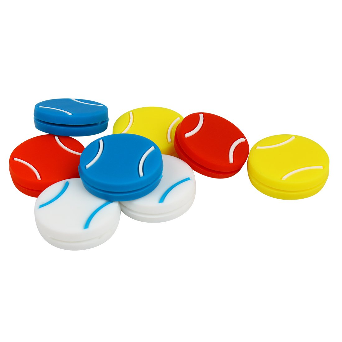 Andux Tennis Racket Vibration Dampener Silicone Shock Absorber Pack of 8 BZQ-03
