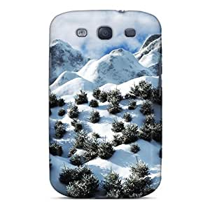 Galaxy Cover Case - Baby Christmas Trees On A Mountain Protective Case Compatibel With Galaxy S3