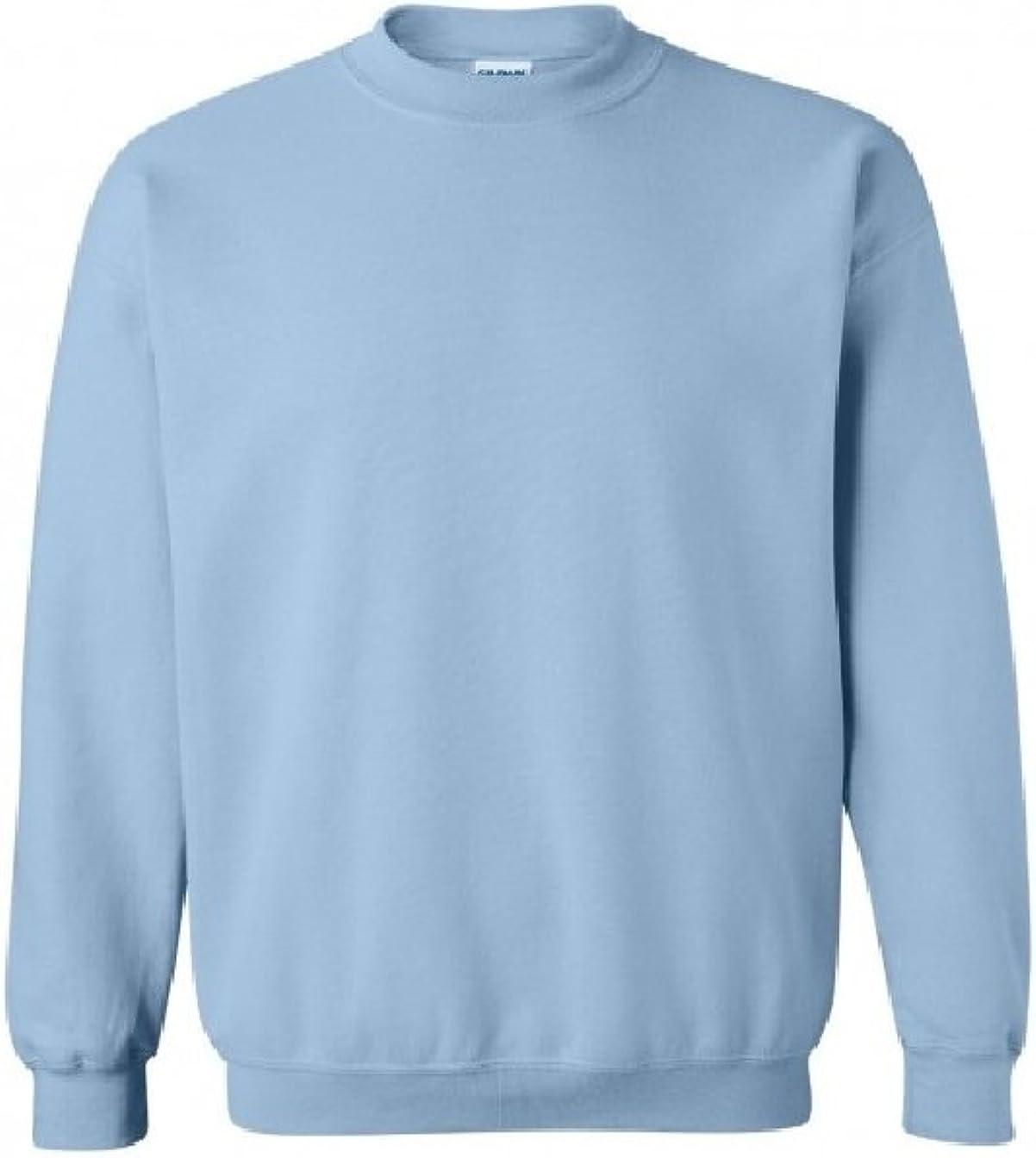 Gildan 50//50 Adult Crew Neck Super Soft Plain Sweatshirt