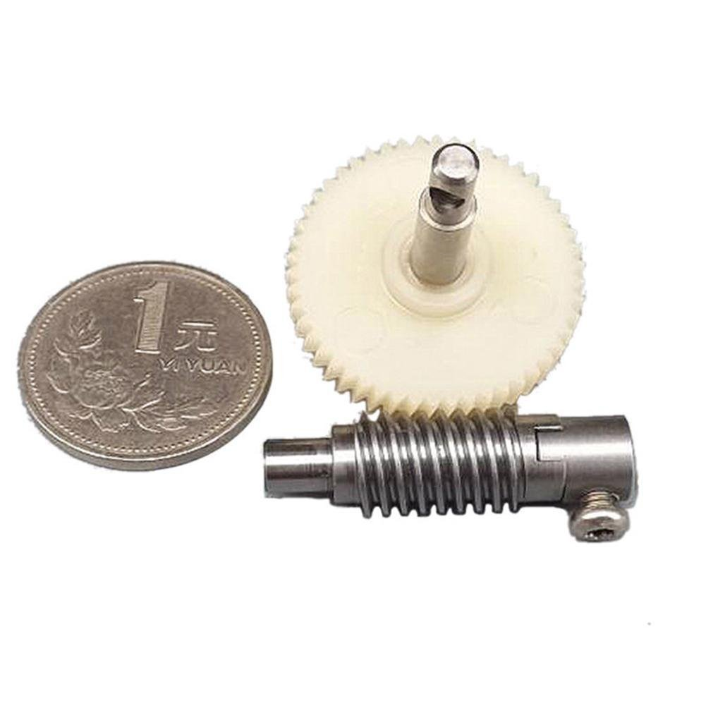 Pink Rose Dream Metal Worm Wheel Reduction Gear set Plastic Gear Reducer Kit for DIY Accessory