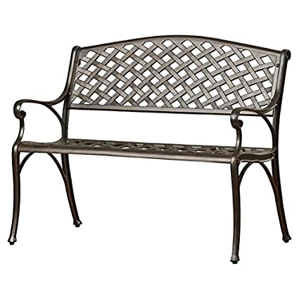 Merveilleux Charming Outdoor Aluminum Garden Bench, Sturdy And Long Lasting Lightweight Cast  Aluminum Construction, Slatted