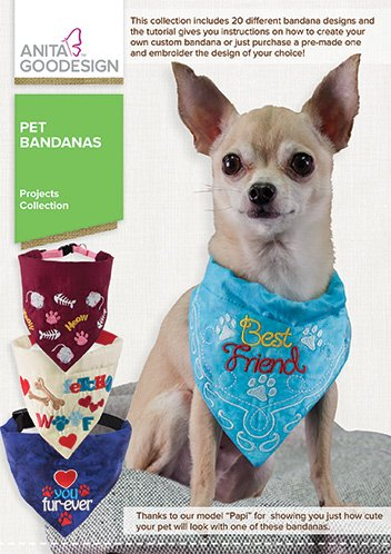 Anita Goodesign Pet Bandanas Proj ()