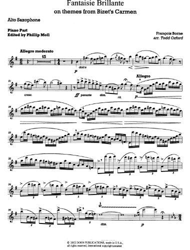Fantaisie Brillante dur des Airs de CARMEN for Alto Saxophone and Piano