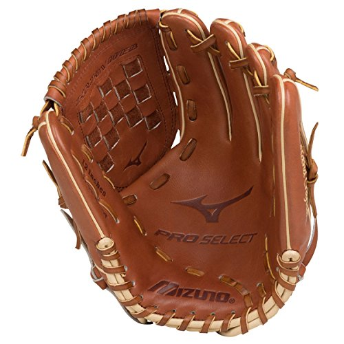 Mizuno GPS1-100R Pro Select Infield/Outfield/Pitcher  Baseball Gloves, Size 12, Brown, Right Hand Throw