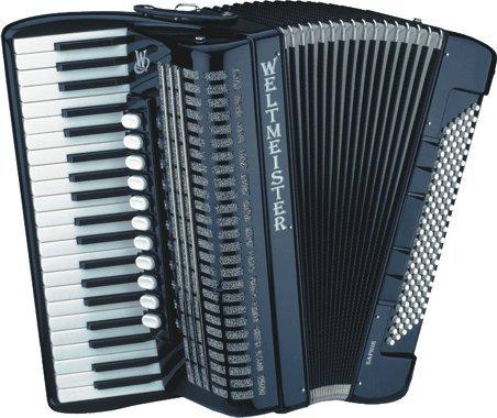 Weltmeister Piano Akkordeon Saphir schwarz