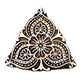 Brown Floral Indian Border Stamp Wooden Printing Block Pottery Stamps