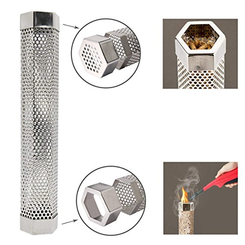 Benbo 12'' Pellet Smoker Tube With Cleaning Brush for Grill Smoker - Cold & Hot smoking by Benbo (Image #2)