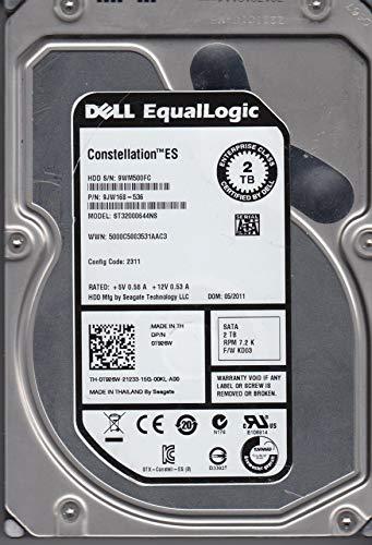 Seagate ST32000644NS 2TB 7200RPM SATA II 3 GB/s 64 MB Cache 3.5in Enterprise Hard Drive (PC, RAID, NAS, CCTV DVR) [Renewed] -w/1 Year ()