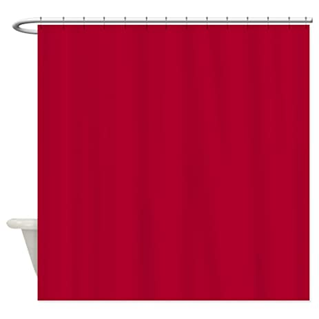 Amazon.com: CafePress - Solid Crimson Shower Curtain - Decorative ...