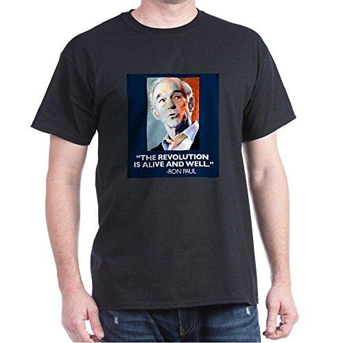 CafePress Ron Paul - The Revolution Is - 100% Cotton T-Shirt (Paul Ron Revolution T-shirt)
