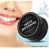 Activated Charcoal Natural Teeth Whitening Food Grade Powder - Safe and Higher Efficiency Solution for whiter teeth and eliminating bad breath of ozostomia 2.12 oz