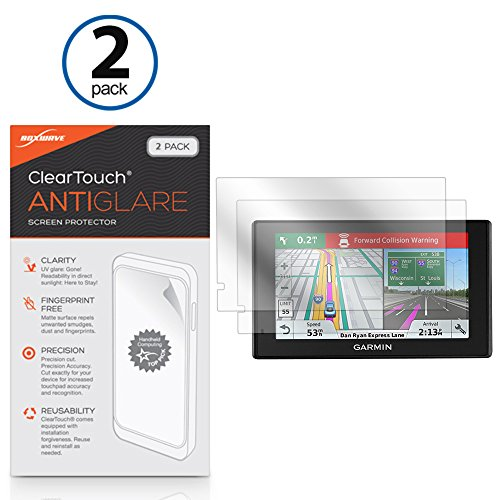 BoxWave Garmin DriveAssist 51 LMT-S Screen Protector, [ClearTouch Anti-Glare (2-Pack)] Anti-Fingerprint Matte Film Skin for Garmin DriveAssist 51 LMT-S