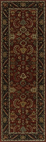 Momeni Rugs ZARINZR-06POM2680 Zarin Collection, 100% Wool Hand Tufted Traditional Area Rug, 2'6