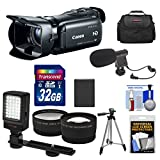 Canon Vixia HF G20 32GB Flash Memory 1080p HD Digital Video Camcorder with 32GB Card + Battery + Case + Microphone + LED Light + Tripod + Telephoto & Wide-Angle Lenses + Accessory Kit