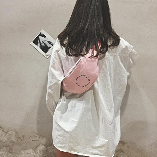 Satchel Belt Ecotrump Fanny Pink Casual Chest Pouch Waist Pack Shoulder Canvas Women Bag vnC10