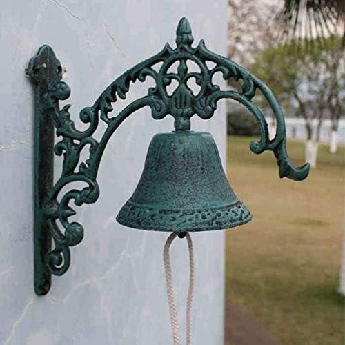 JJLL 錬鉄は、ヨーロッパの古典的なスタイルのレトロな鉄の鐘鋳鉄ドアベルヴィラドアベル27x11x26.5cmレトロドアベルドアベル
