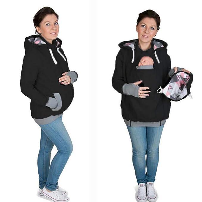 Femmes Hiver Veste Porte Bébé Capuche Maternité Kangourou Coton Sweat-Shirt  Manteau pour Maman Et Bébé,XL  Amazon.fr  Cuisine   Maison f8bd02db79b