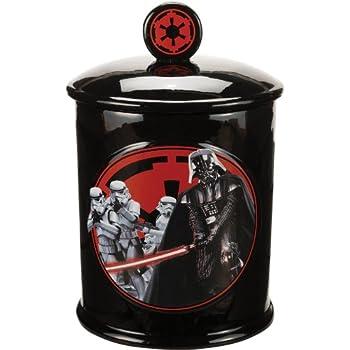 Vandor 99141 Star Wars Vader Dark Side Ceramic Cookie Jar, Black/Red/White